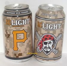 SUPPORT OUR TROOPS PITTSBURGH PIRATE BASEBALL WARRIOR CAMOUFLAGE SPORT BEER CANS