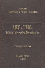INGEGNERIA AGENDA TECNICA EDILIZIA MECCANICA ELETTRONICA 1932 LIBRO MANINI