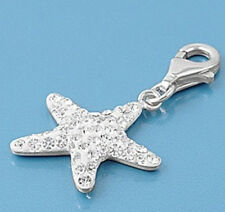 Starfish Pendants Sterling Silver 925 Fashion Charm Bracelets Jewelry Gift