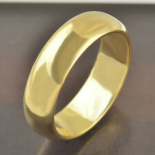 9k Yellow Gold Filled  Womens Unisex Band Ring Size 7# F2886