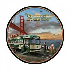 San Francisco Cable Car Diner Golden Gate Bridge Retro Sign Blechschild Schild