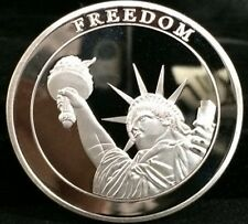 9/11 Silver Coin Freedom Tower Statue of Liberty Remember Manhattan Downtown USA