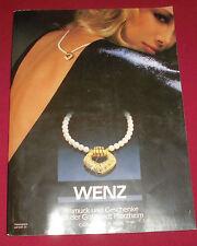 dachbodenfund alter versandhaus katalog wenz pforzheim 1985 schmuck u. geschenke
