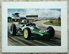 1962 BRITISH GRAND PRIX F1 JIM CLARK LOTUS M Turner Natale Auguri card