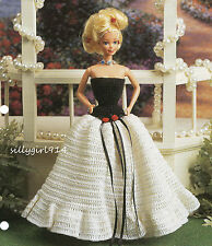 """""""STRAPLESS GOWN""""~Annie's Crochet PATTERN~PATTERN ONLY fits BARBIE FASHION DOLL"""