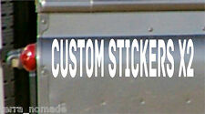 2 x Personalised Custom Car Stickers Vinyl Name Lettering Bumper Decals