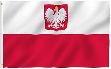 ANLEY Poland Eagle Flag Polish National Banner Polyester 3x5 Foot Country Flags