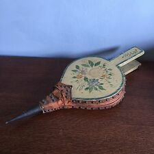 Vintage Antique Fire Bellows Painted Floral