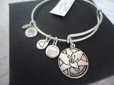 Alex and Ani Because I Love You GRANDMOTHER Russian Silver Bangle NWT Card & Box