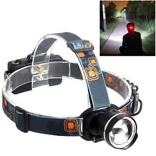 3000LM  CREE XML-T6 LED Zoomable Headlamp Headlight Head Torch Black BG