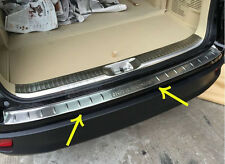 Stainless Steel Rear Bumper Sill Protector For Toyota Highlander 2014 2015+
