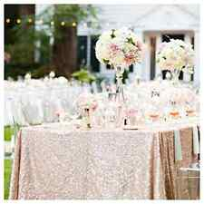 Pink Sequin Table Cloth Champagne Color Dinner Wedding Party Decor 60x102 Inch