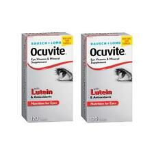 2 Pack Bausch & Lomb Ocuvite Eye Vitamin & Mineral Supplement with Lutein 120 Ea