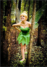Fairy Tinker Bell Wigs Yellow Straight Synthetic Hair Women 4 Cosplay Halloween