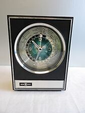 Howard Miller Atomic Space Age Executive Desk World Clock Rocket Second Hand