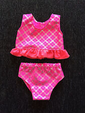 Baby Born doll clothes, pink swimming clothes