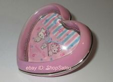 Vintage Sanrio HELLO KITTY Charmmy Kitty Pink Heart Shaped Alarm Clock *RARE*