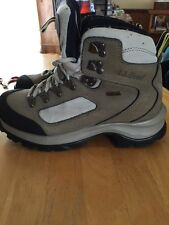 LL Bean Gore-Tex Outdoor Hiking Boots Vibram Soles Womens Sz 6 1/2 Tan