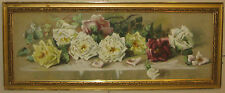 Antique HENRIETTA DUNN MEARS 'Row of Roses' Still Life Painting - PROVINCETOWN
