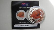 2011 Pitcairn Islands $2 Deep Sea Fish Silver Proof coin
