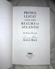 ANNE RICE.. Vampire Chronicles: Prince Lestat / Realms of Atlantis (1/1) SIGNED
