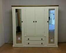 AYLESBURY NEXT 4 DOOR  2 DRAWER QUAD WARDROBE( IVORY & DARK OAK)- NOT FLATPACK