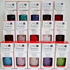 CND SHELLAC UV LED POWER POLISH 16-pc SET ~ Pick 14 Colors, FREE Top & Base Coat