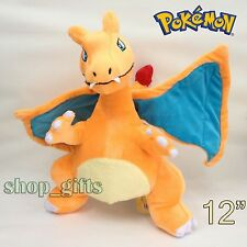 Pokemon Plush Charizard #006 Soft Toy Fire Dragon Stuffed Animal Doll Teddy 12""