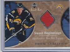 06-07 2006-07 SWEET SHOT DREW STAFFORD SWEET BEGINNINGS RC JERSEY /499 109 SABRE