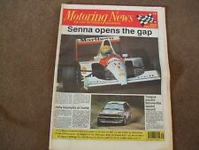 Motoring News 29 August 1991 1000 Lakes Spa F3000 Belgian GP Denver CART BTCC