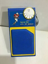 VINTAGE NOVELTY SOCCER STAR RADIO AM(MW)- BAND FROM THE 1970s-1980s