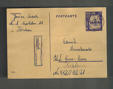 1943 Krakow Poland to Germany Gross Rosen Concentration Camp KZ Postcard Cover