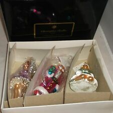 Christopher Radko Nutcracker Suite III Set of 3 Christmas  Ornaments New NIB