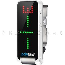 TC Electronic PolyTune Clip LED Headstock Clip-on Guitar Tuner Electronics - NEW