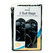 2 Bags Cover Wedding Garment Clothes Storage Carrier Hanging Suit Bag Coat Bag