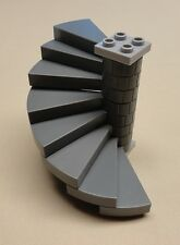 x1 NEW Lego Castle Stairs Dark Bluish Gray Winding Spiral Staircases 8 Steps