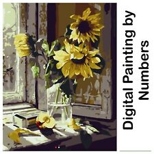 "16X20"" Digital Paint By Number Kit. Fabric Canvas & 23 Colours. Art Picture Gift"
