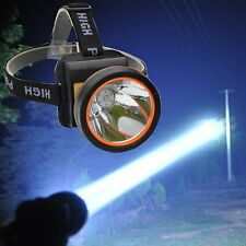 Bright LED Headlight Spotlight Rechargeable Headlamp for Hiking Mining Fishing