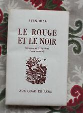 1956 Le rouge et le noir Stendhal  Aux Quais de Paris