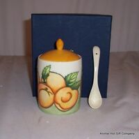 Old Tupton Ware Apricot Jam Preserve pot and Spoon