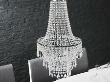 Edle Kronleuchter Leuchte Lüster KLAR Durchsichtig Hängelampe 70cm x 40 cm Neu