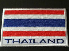 NATIONAL WORLD COUNTRY EMBROIDERED FLAG SEW/IRON ON PATCH:- THAILAND (b)