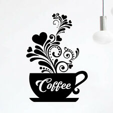 Wall Art Love Tea Cups Kitchen Sticker Coffee Vinyl Decal Restaurant Pub Bar dc