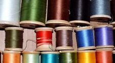 VTG SEWING THREAD All are on Wooden Spools LOT OF 30 PCS  by COATS & CLARKS