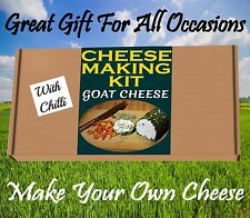 Fabbricazione del formaggio KIT Formaggio di Capra & mix di peperoncino grande regalo di compleanno