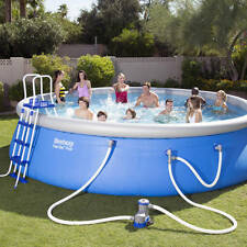 """Bestway 18' x 48"""" Fast Set Above Ground Swimming Pool"""