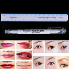 Surgical Skin Marker Pen Ruler Scribe Tool Tattoo Piercing Permanent Makeup ACZ