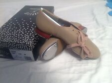 Capezio CG06 size 4.5 Tan TeleTone Split Sole Tap Shoe Kids NIB $73