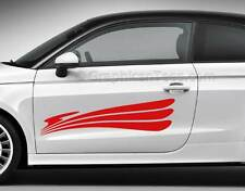Racing Tattoos Car Body Stickers Side Stripes Graphics Choice of Colours 05