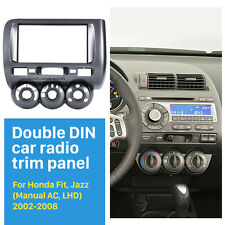 Double Din Car Radio Fascia Dash Trim Kits for 2006 Honda Jazz Manual AC LHD